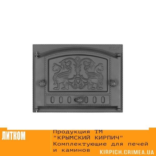 ДК-2Б RLK 325 »Грифоны» Дверка каминная крашеная