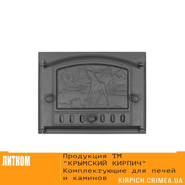ДК-2Б RLK 335 »Приволье» Дверка каминная крашеная