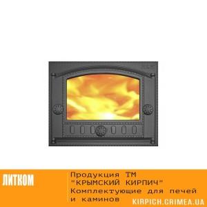 ДК-2С RLK 365 Дверка каминная крашеная со стеклом