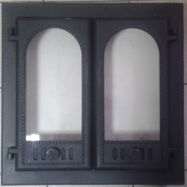 ДК-8С RLK 8415 Дверка каминная герметичная Горница-2 крашеная со стеклом (1)