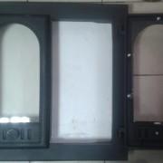 ДК-8С RLK 8415 Дверка каминная герметичная Горница-2 крашеная со стеклом (2)