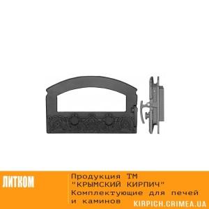 ДКГ-5С-Э RLK 8314 Дверка каминная герм. Зной без стекла крашеная