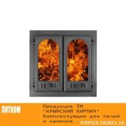 ДКГ-8С RLK 8415 НОВИНКА Дверка каминная герметичная Горница-2 крашеная со стеклом