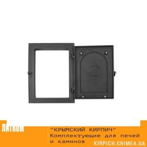ДКУ-9 RLK 8314 открытая НОВИНКА Дверка каминная уплотненная крашеная