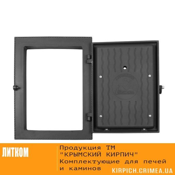 ДКУ-9А RLK 8314 открытая НОВИНКА Дверка каминная уплотненная крашеная