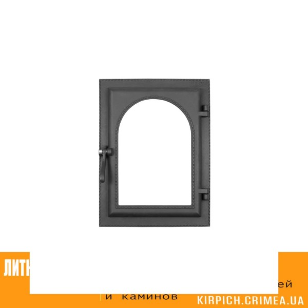 ДКУ-9С RLK 365 НОВИНКА Дверка каминная уплотненная крашеная без стекла