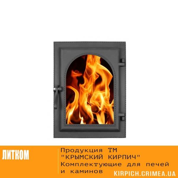 ДКУ-9С RLK 365 НОВИНКА Дверка каминная уплотненная крашеная со стеклом