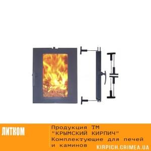 ДТГ-5АС RLK 7112 Дверка топочная герм. Сельга краш. со стеклом со спец.креп.