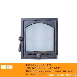 ДТГ-8АС RLK 6210 Дверка топочная герм. Онего крашеная со стеклом