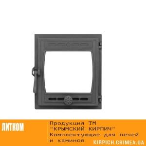ДТГ-8С RLK 6110 Дверка топочная герм. Кижи крашеная без стекла