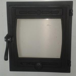 ДТГ-8С RLK 6110 Дверка топочная герм. Кижи крашеная со стеклом (1)