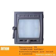 ДТГ-8С RLK 6110 Дверка топочная герм. Кижи крашеная со стеклом
