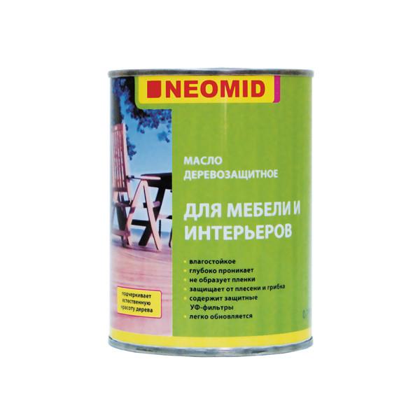 Масло деревозащитное для мебели и интерьеров NEOMID