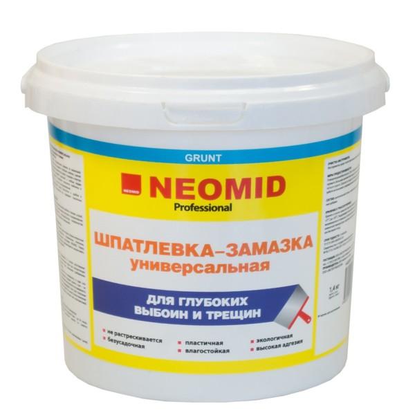 Шпатлевка-замазка NEOMID для заделки и глубоких выбоин и трещин