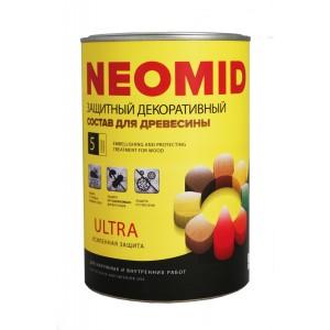 Защитный декоративный состав для древесины NEOMID BiO COLOR Ultra