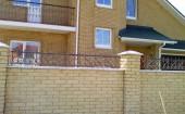 Дом и забор облицовочный кирпич