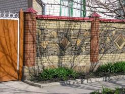 Забор с малыми колоннами